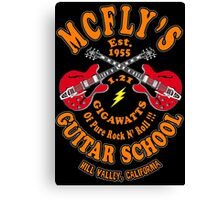 McFly's Guitar School Colour Canvas Print