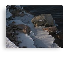 Railroad Spike and Ice Canvas Print