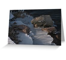 Railroad Spike and Ice Greeting Card