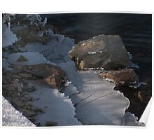 Railroad Spike and Ice Poster