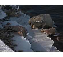 Railroad Spike and Ice Photographic Print