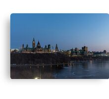 Canada's Capital city at night fall Canvas Print