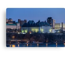 Canada's capital of Ottawa at dusk Canvas Print