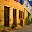 Street scene in France by Mary Taylor