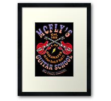 McFly's Guitar School Colour 2 Framed Print