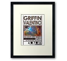 Dating An Alien Popstar Framed Print