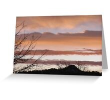 Sunrise Behind Lookout Mountain, SD Greeting Card
