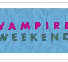 Vampire Weekend Sticker
