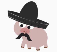 Cerdito Bandito Pig Kids Tee