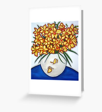 """Mazzo di Narccisi"" Bouquet Of Daffodils Greeting Card"