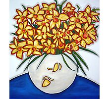 """Mazzo di Narccisi"" Bouquet Of Daffodils Photographic Print"