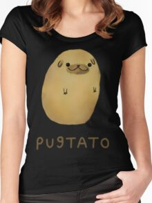pug tato Women's Fitted Scoop T-Shirt