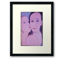 The kiss of Appreciation Framed Print
