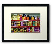 Coloured Candles - Gift Shop Framed Print