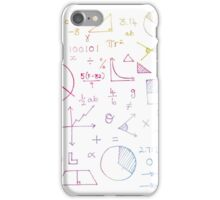Math formulae (white) iPhone Case/Skin