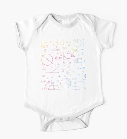 Math formulae (watercolor background) Kids Clothes