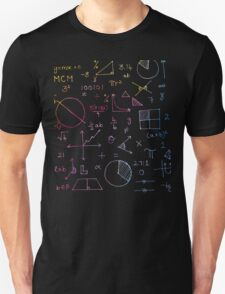 Math formulae (watercolor background) Unisex T-Shirt