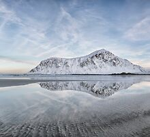Flakstad reflections - Norway by Kath Salier