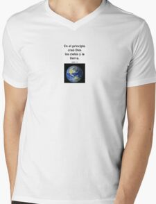 Genesis 1:1 Mens V-Neck T-Shirt