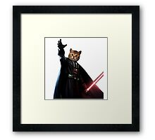 Kitty Darth Vader Starwars [TW] Framed Print