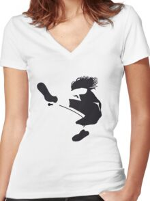 Keep on jumping Women's Fitted V-Neck T-Shirt
