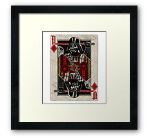 Darth Vader - Playing King Card Framed Print