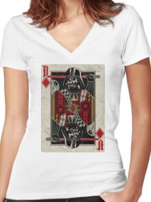 Darth Vader - Playing King Card Women's Fitted V-Neck T-Shirt