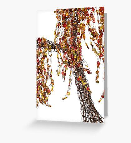 Autumn Willow Tree - white Greeting Card