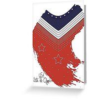 Team USA 2016 Olympics Leotard? Greeting Card