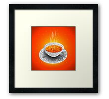 Cup of tea. Polygonal graphics Framed Print