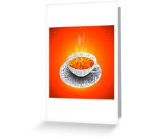 Cup of tea. Polygonal graphics Greeting Card