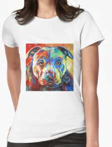 Stafforshire Bull Terrier Womens Fitted T-Shirt