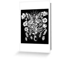 Death Moth Rising Greeting Card