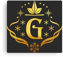 Gfriend Gold Logo Canvas Print