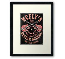 McFly's Guitar School Vintage Framed Print