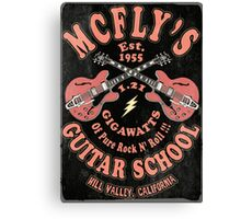 McFly's Guitar School Vintage Canvas Print