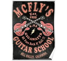 McFly's Guitar School Vintage Poster