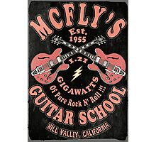 McFly's Guitar School Vintage Photographic Print