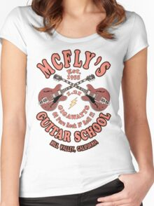 McFly's Guitar School Vintage Women's Fitted Scoop T-Shirt