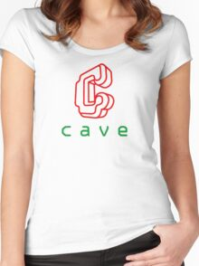 Cave Logo Women's Fitted Scoop T-Shirt