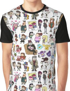 Cute Gravity Falls Doodle Graphic T-Shirt