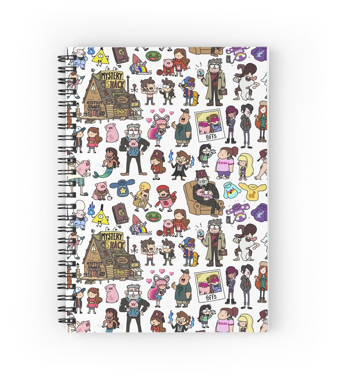 u0026quot cute gravity falls doodle u0026quot  spiral notebooks by