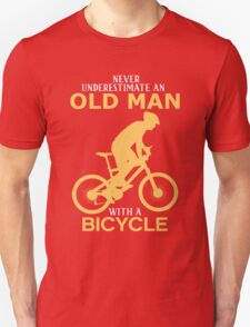 Never Underestimate An Old Man With A Bicycle T-Shirt