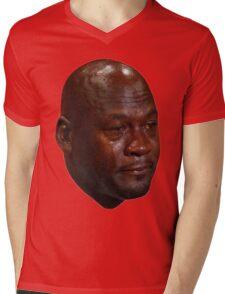 Crying Jordan Mens V-Neck T-Shirt
