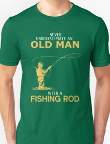 Never Underestimate An Old Man With A Fishing Rod T-Shirt