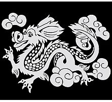 Year of the Luck Dragon (White Ink)  Photographic Print