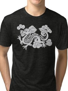 Year of the Luck Dragon (White Ink)  Tri-blend T-Shirt