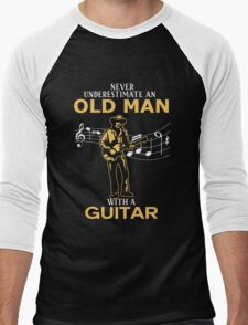 Never Underestimate An Old Man With A Guitar Men's Baseball ¾ T-Shirt