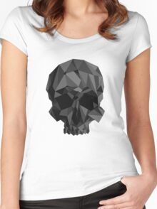 Origami Skull ( Desaturated ) Women's Fitted Scoop T-Shirt