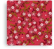 Floral texture with imitation glass.  Canvas Print